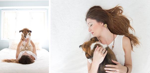 Casal faz um incrível book de recém nascido...com seu cão (13)