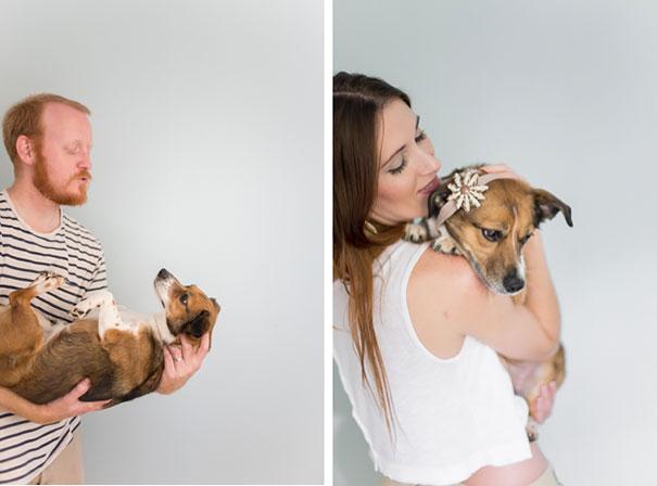 Casal faz um incrível book de recém nascido...com seu cão (16)