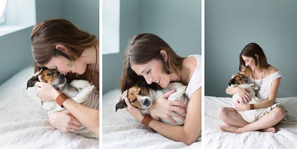 Casal faz um incrível book de recém nascido...com seu cão (18)