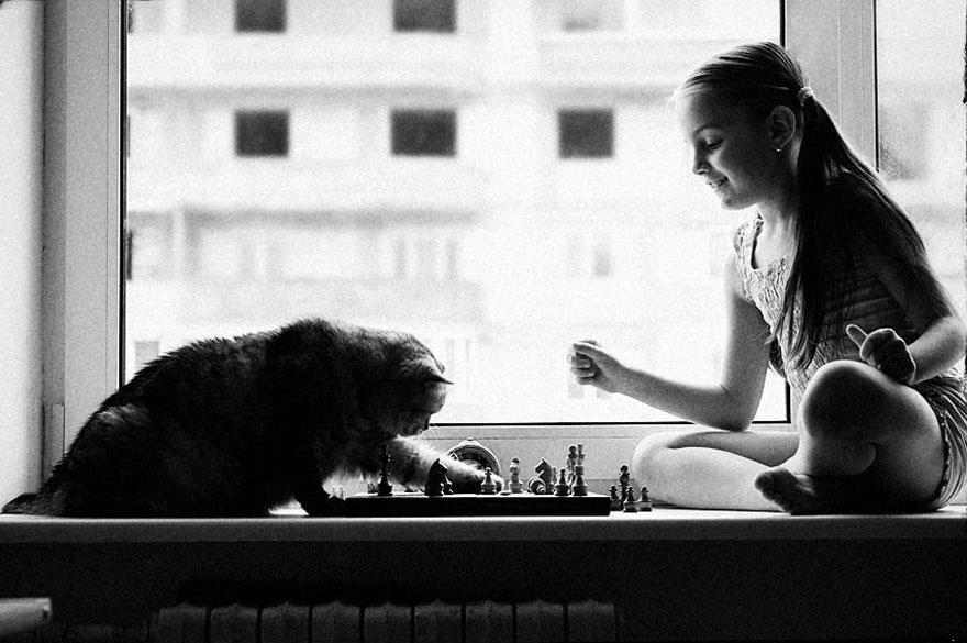 Fotos de crianças brincando com seus gatos (13)