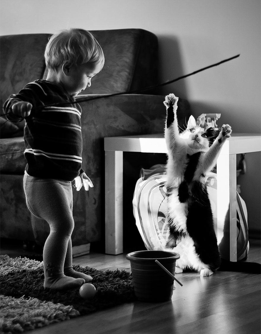 Fotos de crianças brincando com seus gatos (15)