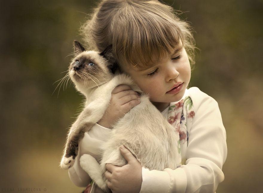 crianças brincando com gatos (2)