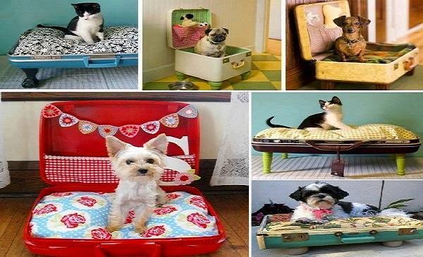 18 Ideias criativas para fazer casinhas e caminhas para cães e gatos