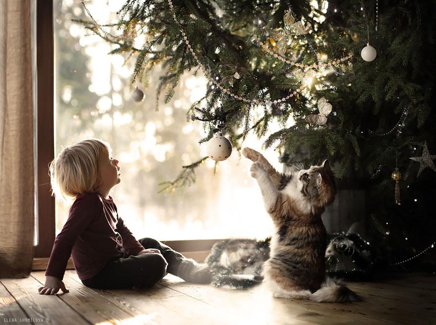 Mãe russa tira incríveis fotos de animais com seus filhos (5)