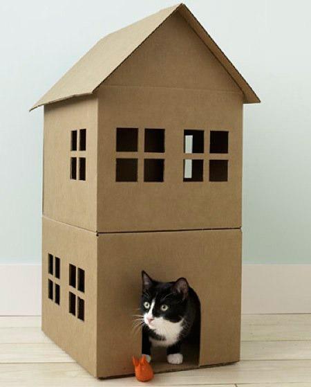 ideias-criativas-de-casinhas-de-papelão-para-gatos (13)