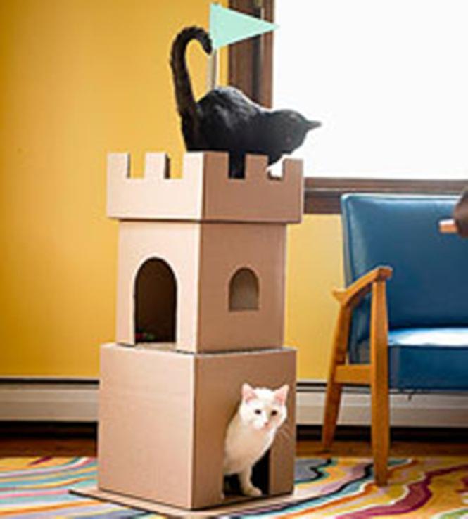 ideias-criativas-de-casinhas-de-papelão-para-gatos (3)